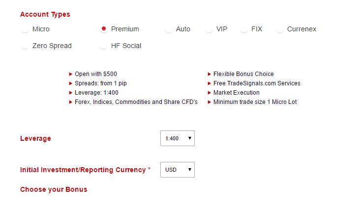 Hotforex currenex spreads